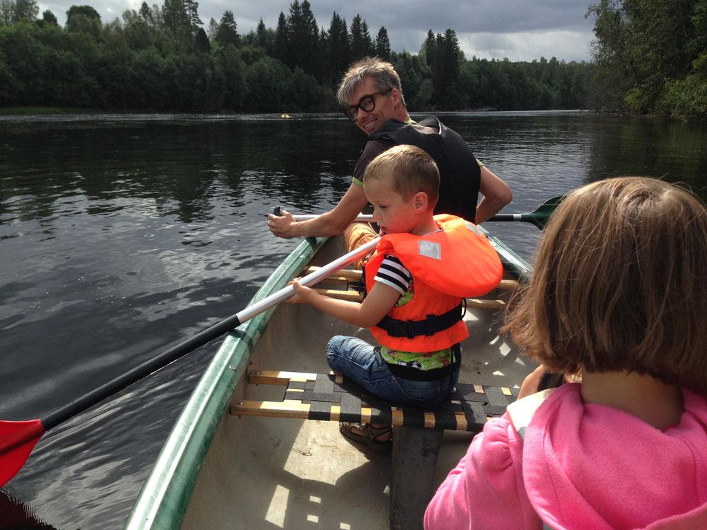 Ook met jonge kinderen is kanoën prima te doen.