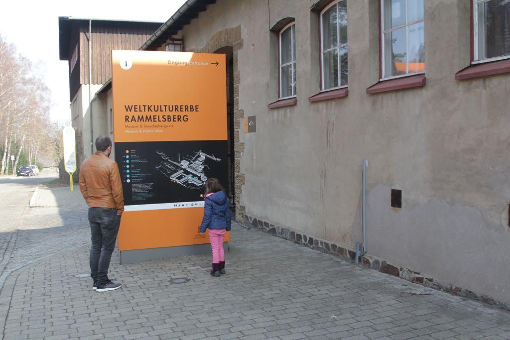 Op de kaart kun je al zien hoe groot het complex van de Rammelsbergmijnen is.