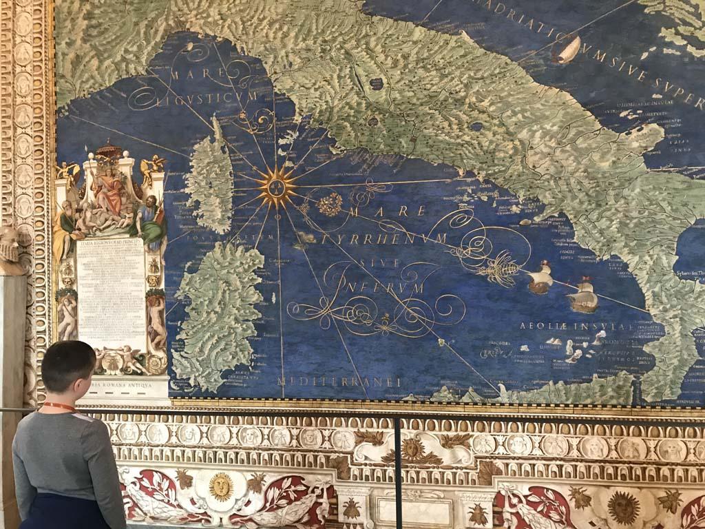 De gallerij met de kaarten is mijn favoriete gedeelte van het Vaticaanmuseum.