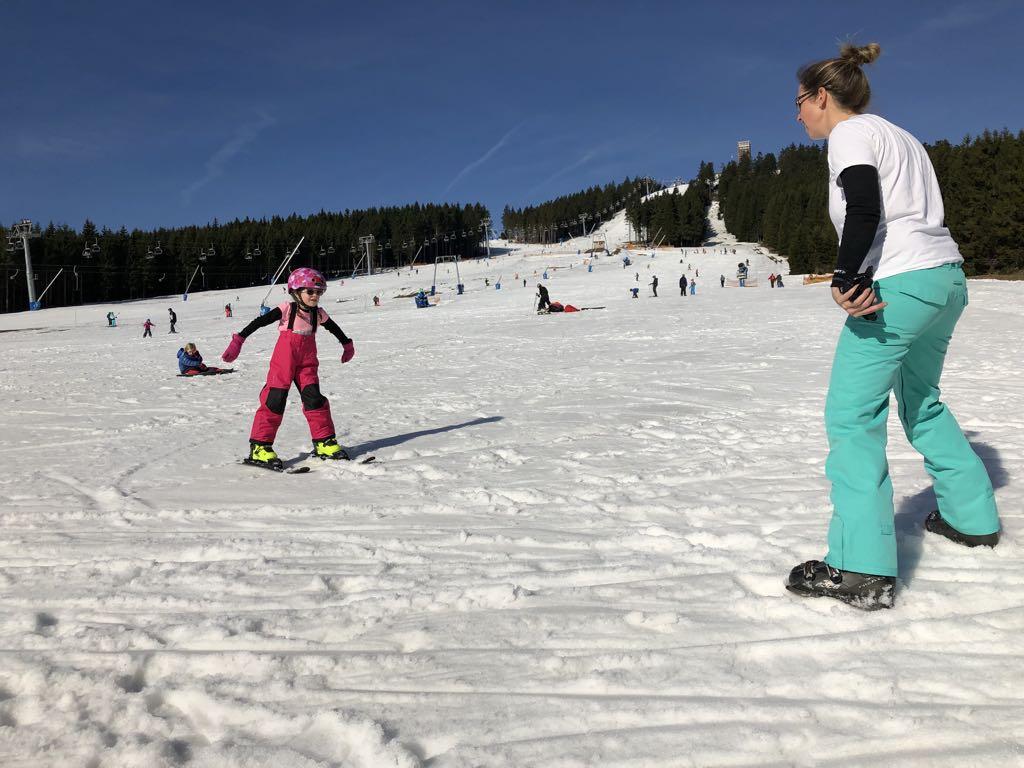 Skien op de piste van Braunlage.