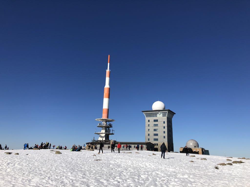 De top van Brocken, het hoogste punt van de Harz.