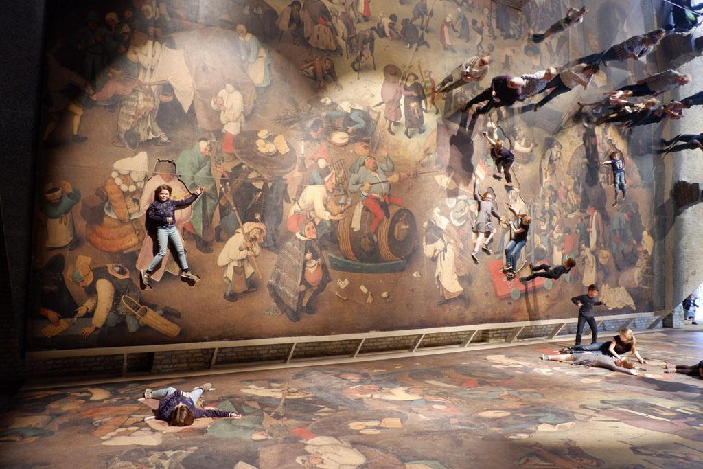 'De strijd tussen Carnaval en vasten' van Bruegel