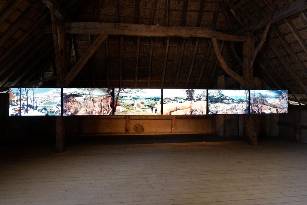 De schilderijen van Bruegel op een moderne manier getoond.