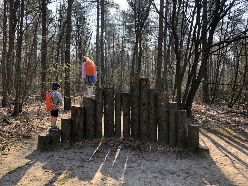 Checken of het wolvensnoepje werkt door over het hoge hek te klimmen