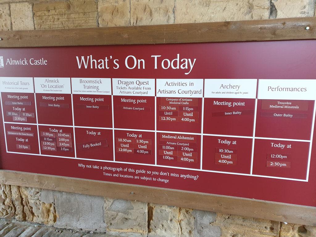 Informatie bord bij de ingang.