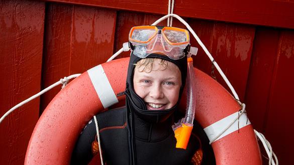 Snorkelen (met duikpak aan) kan gewoon in Denemarken (copyright: @visitlillebaelt)