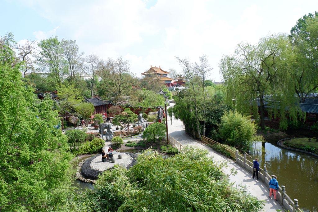 Het uitzicht over China is fenomenaal