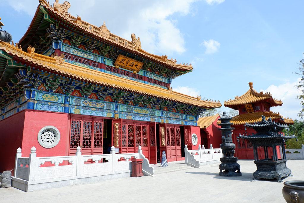 Letterlijk een hoogtepunt van Pairi Daiza: De Chinese Tempel van Mededogen