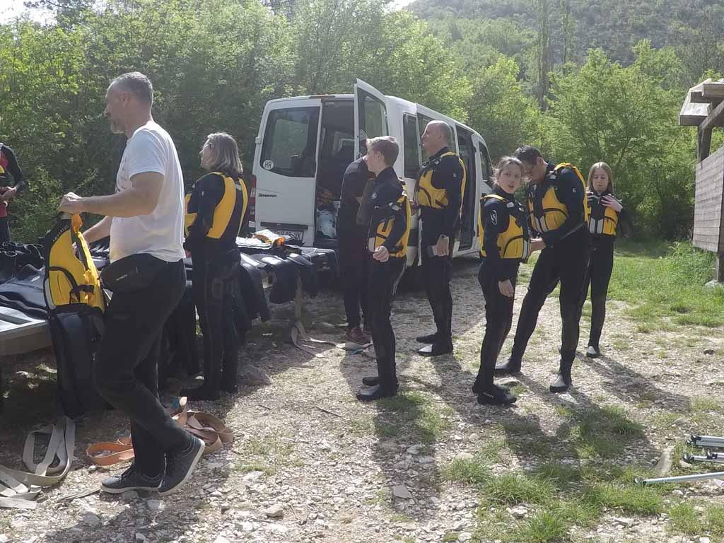 raften in Kroatië Cetina rivier