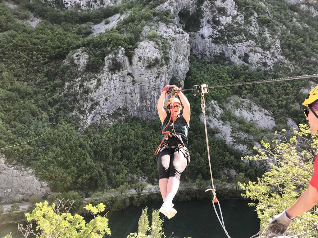 ziplinen-in-omis-kroatie