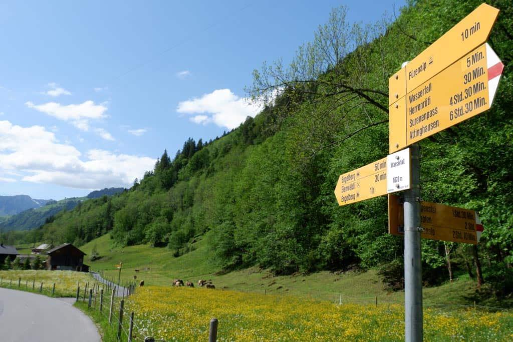 Wandelen in Engelberg Fürenalp