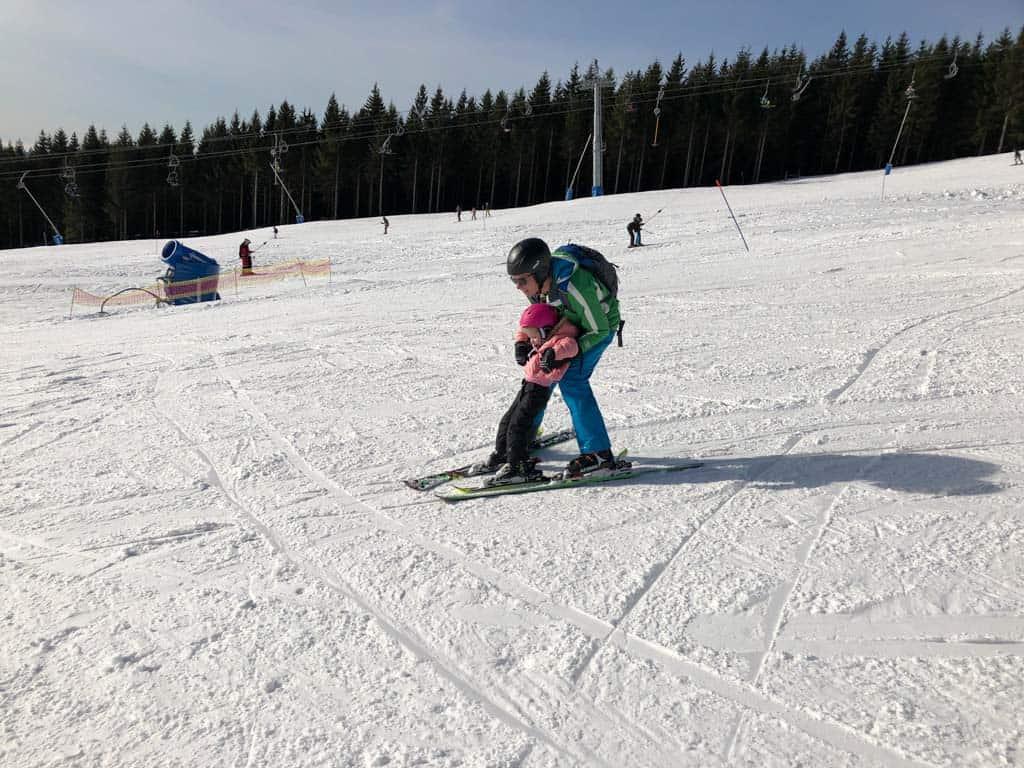 De juiste skihouding moet nog gevonden worden