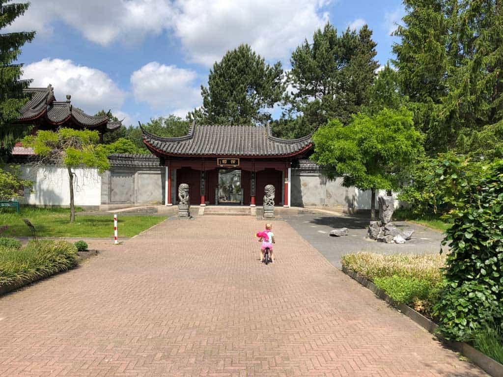 De poort naar de Chinese tuin