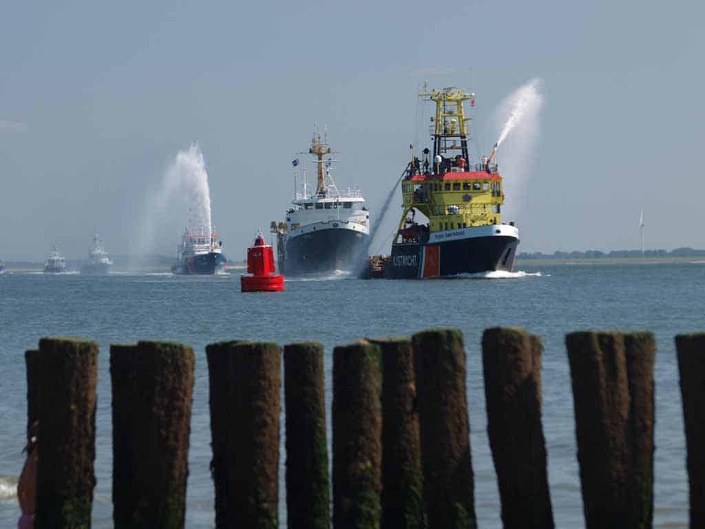 De vlootschouw tijdens het indrukwekkende evenement Rescue Vlissingen