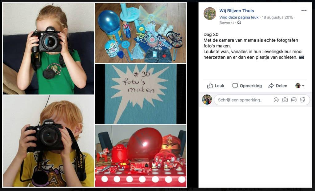 Printscreen van een van de posts op haar Facebook-pagina.