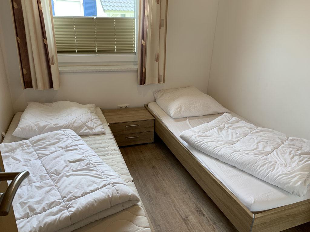 Een van de slaapkamers.