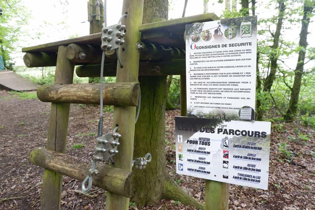 oefenen met het zekeren parc natura klimpark