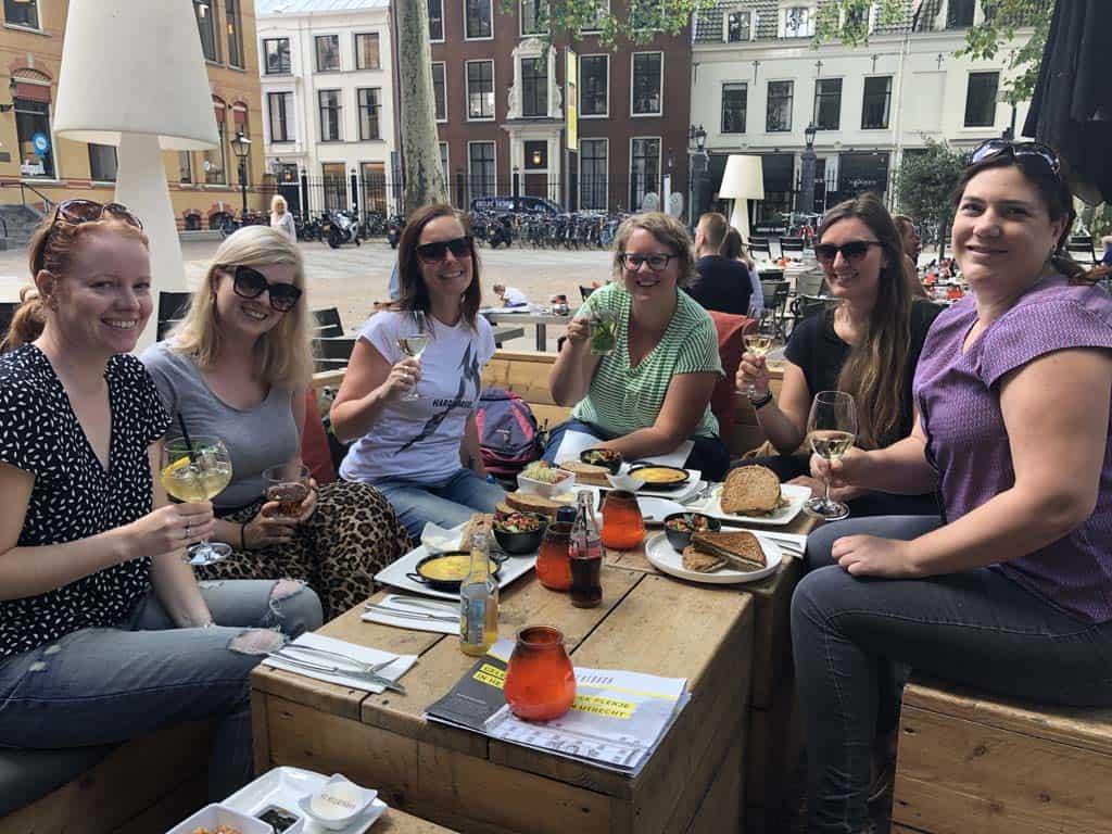 Gezellig lunchen in Utrecht.