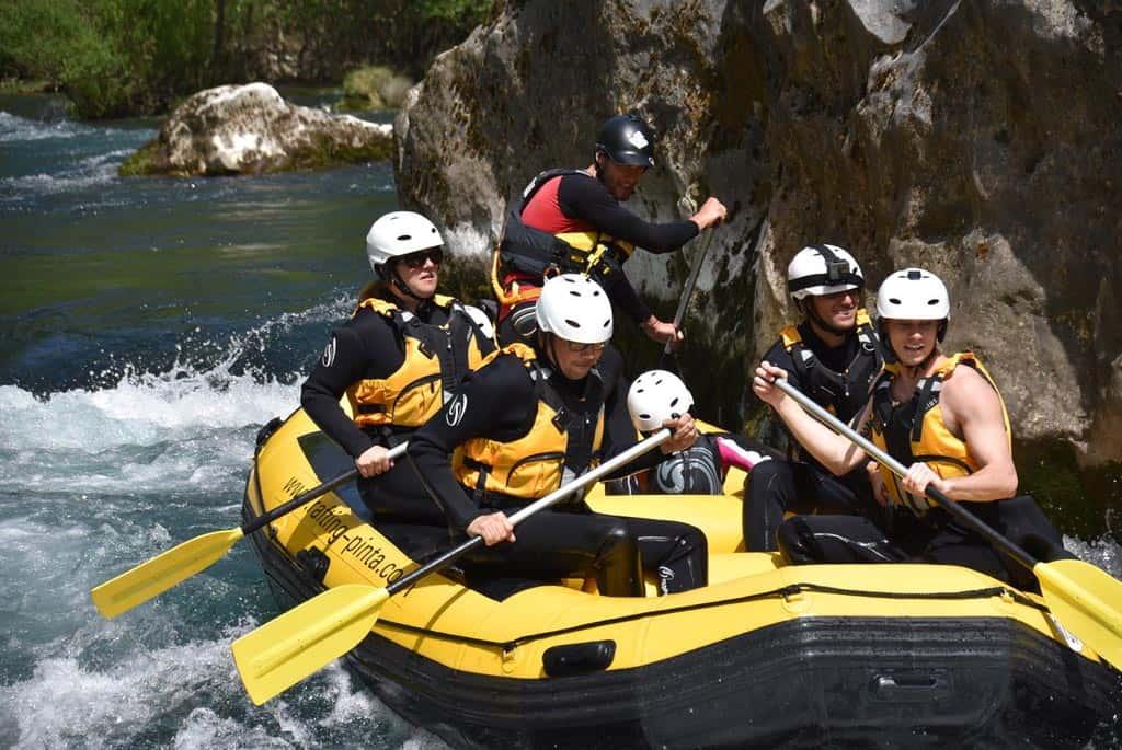 raften Cetina rivier omis