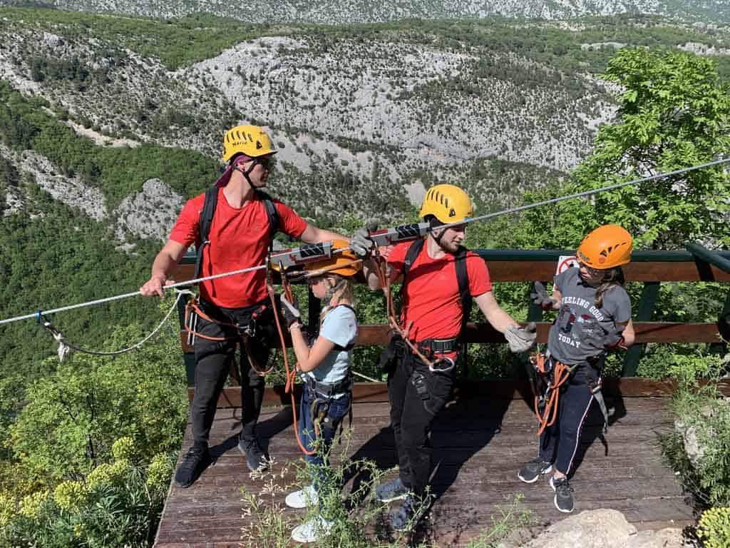 Split en omgeving ziplinen Cetina rivier