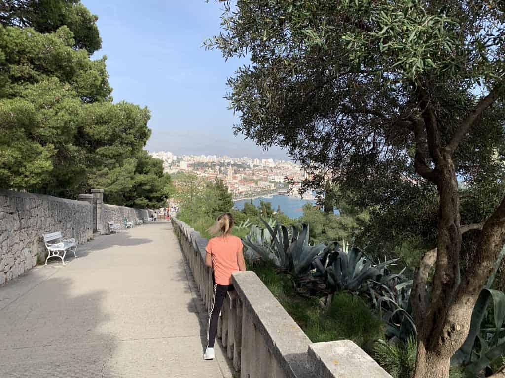 klimmen naar park Marjan in split
