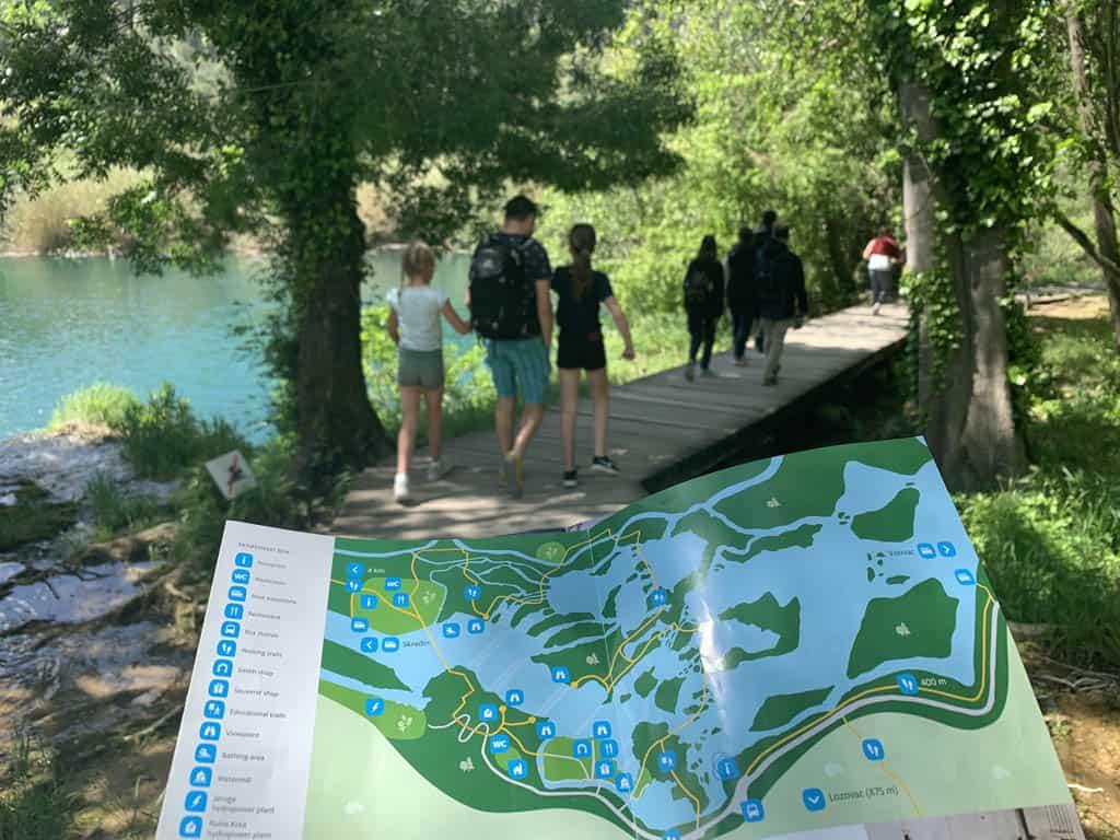 nationaal park Krka split met kinderen