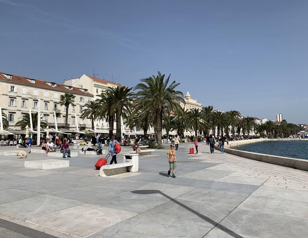 boulevard Split met kinderen
