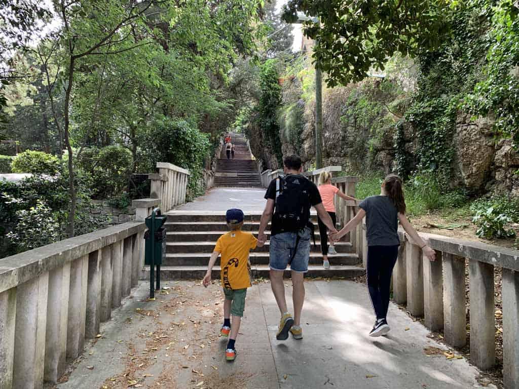 Park Marjan in split met kinderen