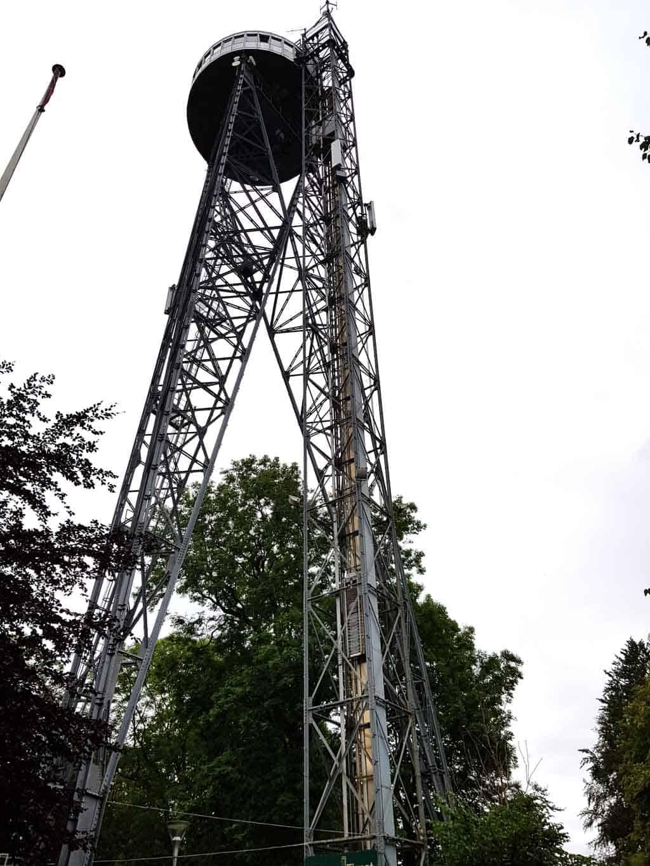 De Aalborgtarnet: een uitkijktoren waar je een mooi uitzicht over de stad Aalborg en omgeving hebt.