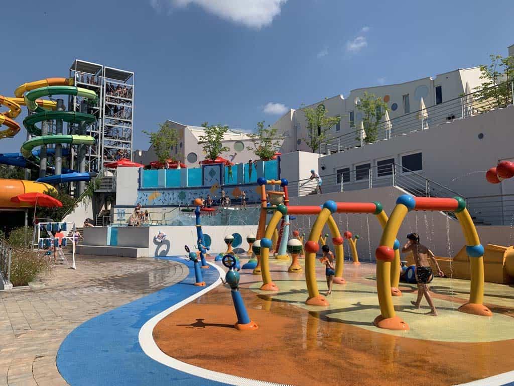 Het spraypark in het kindergedeelte van Istralandia.