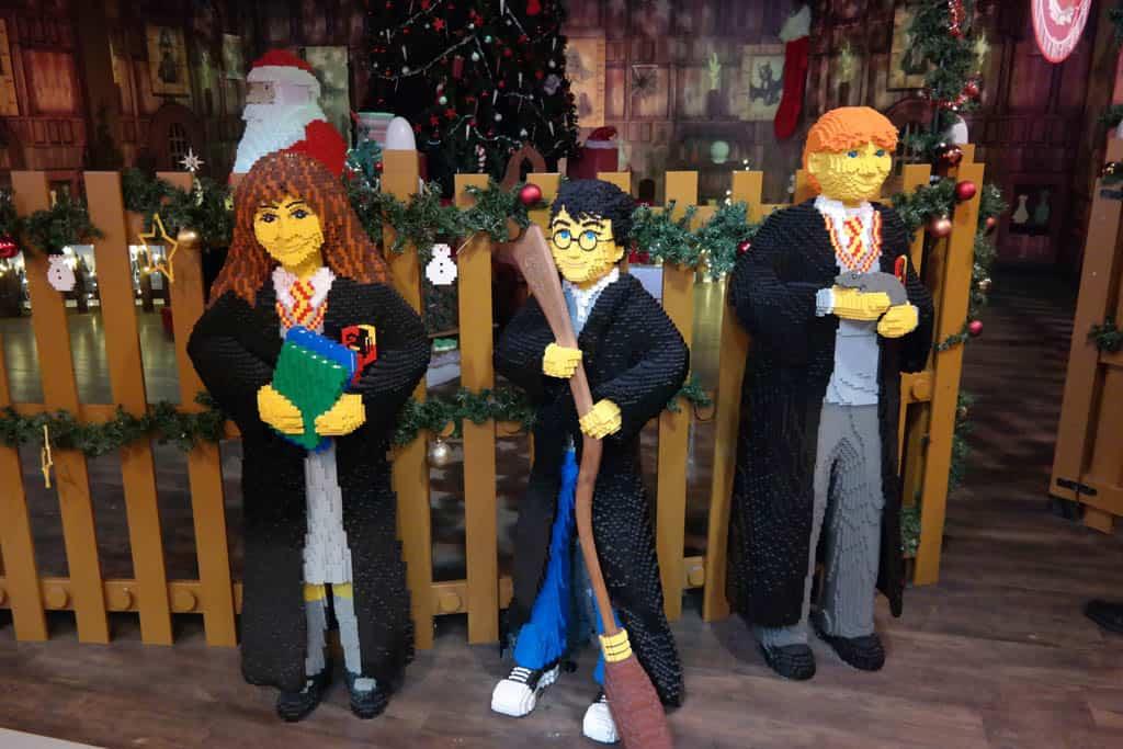 Harry Potter figuren in het LEGO Discovery Center in Oberhausen