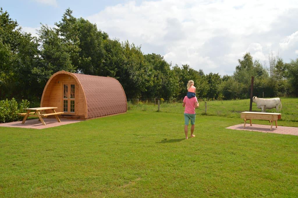 Luxe camping villa op 'Recreatieboerderij Johan en Caroline'.