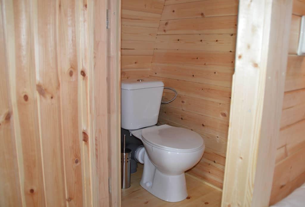 Toilet helemaal voor onszelf, erg prettig