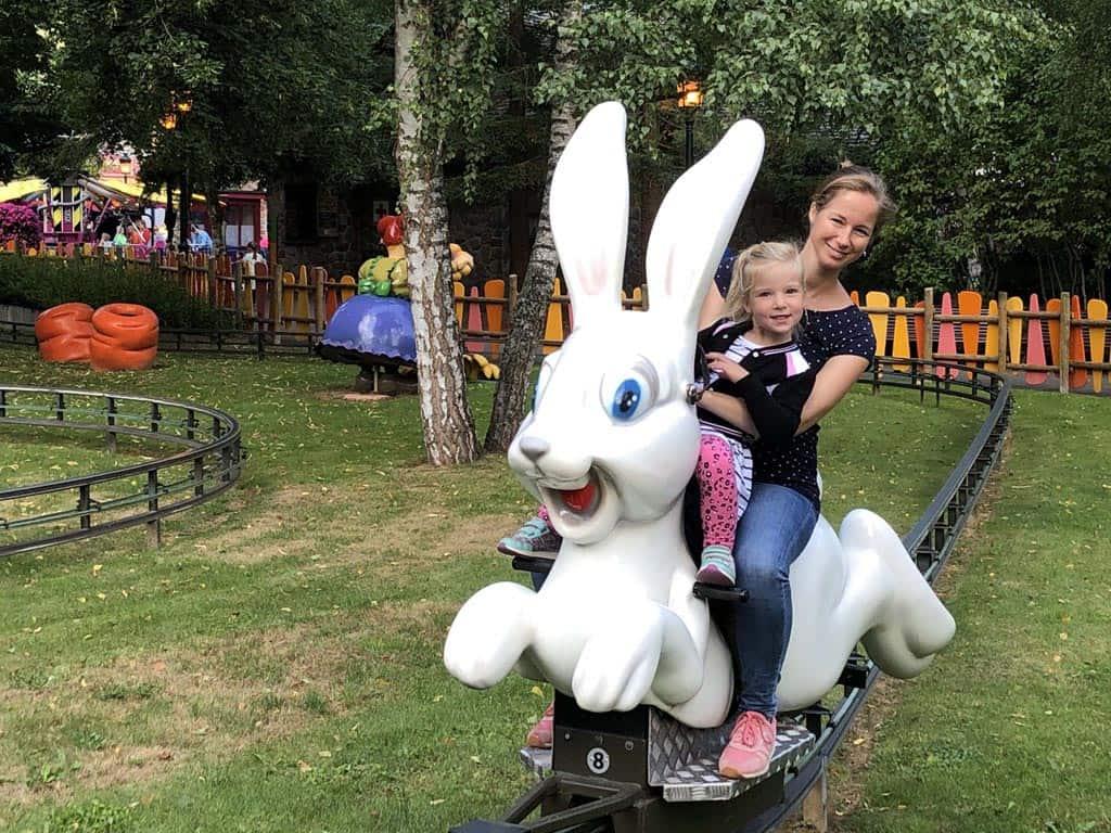 3 keer achter elkaar in de konijntjes in Plopsa Coo