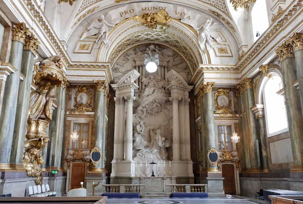 De Koninklijke kapel van het Kungliga Slotte
