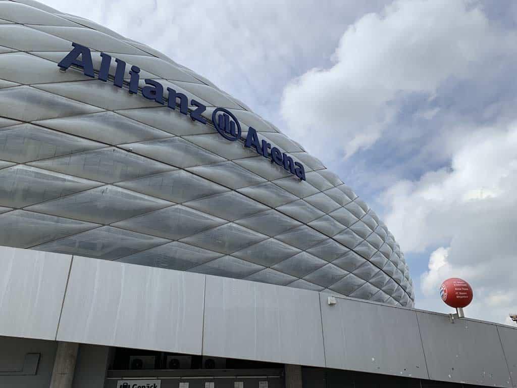 De Allianz Arena, het stadion van FC Bayern München.