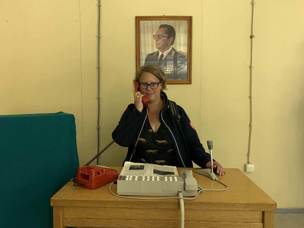 Het bureau van Tito in de strategieruimte.