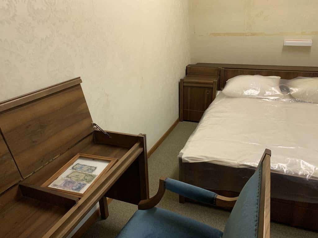 De slaapkamer van Tito en zijn vrouw.