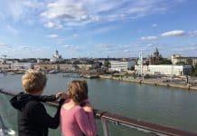 Uitzicht op Helsinki