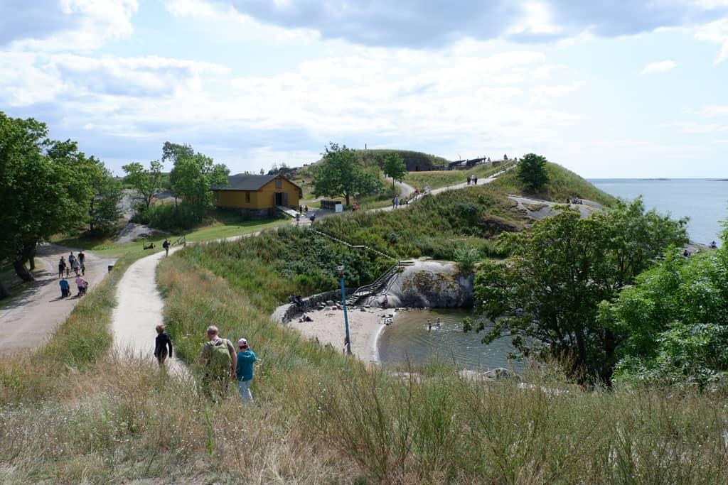 Het strandje bij Piper Park