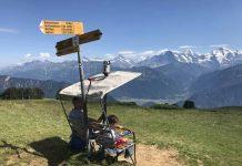 De splitsing bij het bakje van de ouder stoeltjeslift. Hier kan je of naar de Burgfeldstand op 2063 meter of doorlopen naar Oberburgfeld