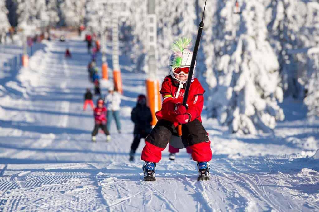 In Scandinavië is het relatief rustig op de pistes.