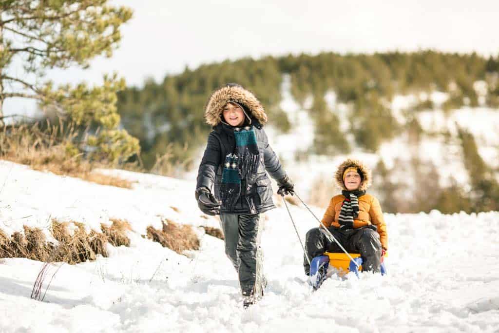 Genieten in de sneeuw.