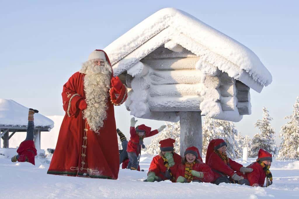 Op bezoek bij de Kerstman.