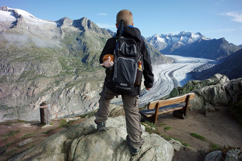 Een gletsjertocht met kinderen over de Aletschgletsjer vakantie-in-de-aletsch-arena
