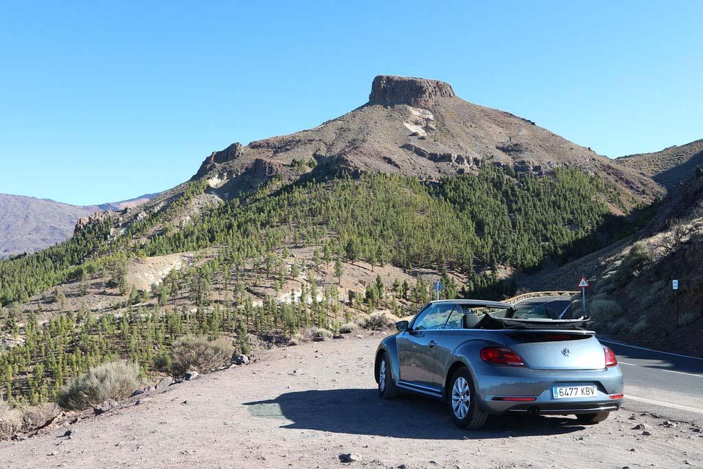 Met de huurauto door Nationaal Park El Teide.