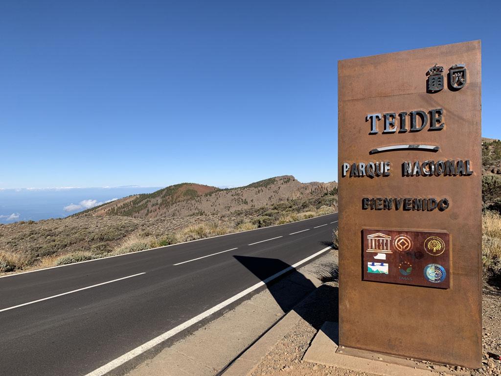 We zijn in Nationaal Park El Teide aangekomen.
