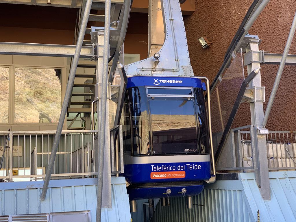 Helaas, de kabelbaan naar El Teide is gesloten.