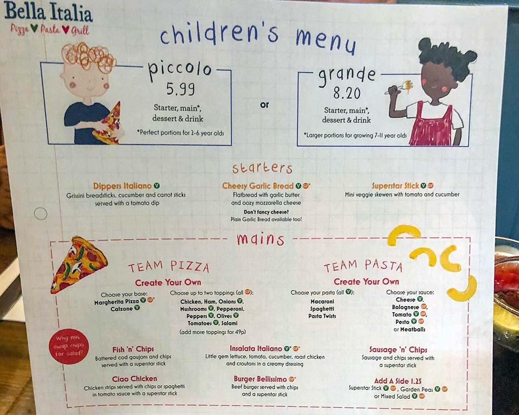 Alle restaurants hebben een kinderkaart met speciale kindermaaltijden