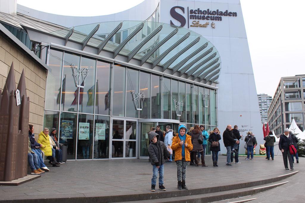 De ingang van het Chocolademuseum in Keulen. En heerlijk museum voor kinderen.